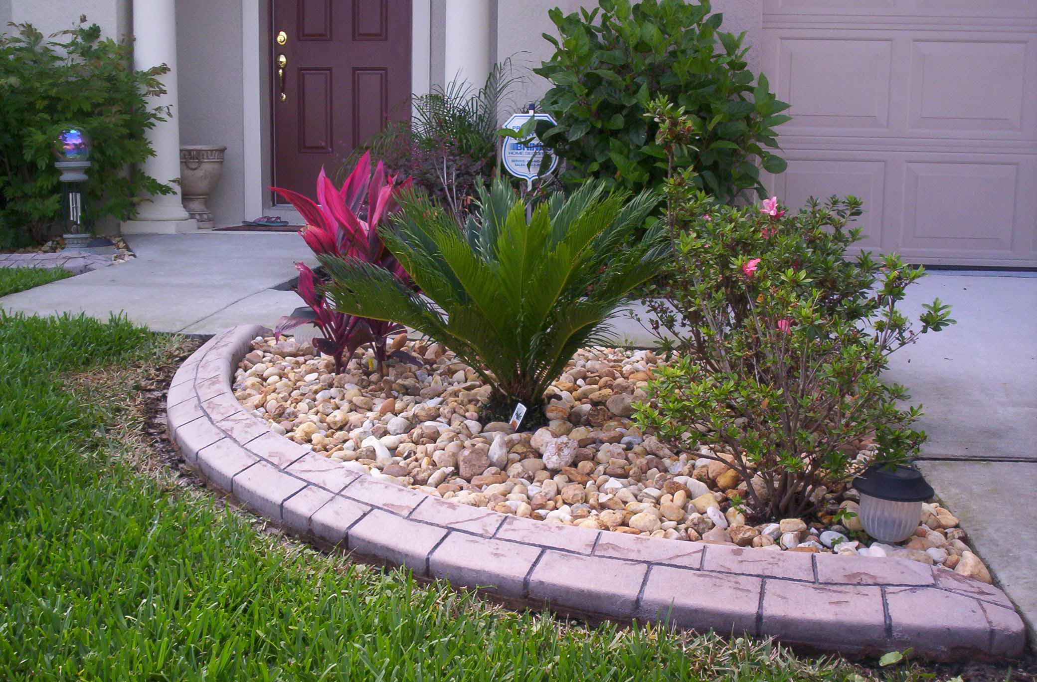 Landscape curbing concrete edging alternative edge for Concrete garden designs