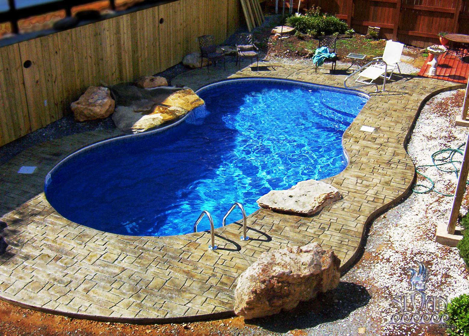 Cape concrete designs stamped concrete for Swimming pool room decor